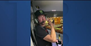NASCAR's Kurt Busch celebrates Las Vegas win with helicopter ride