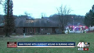 KCPD: Man with gunshot wound found dead in burning home - Video