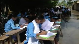 Students forced to take exams in flooded schools as flood wreaks havoc - Video