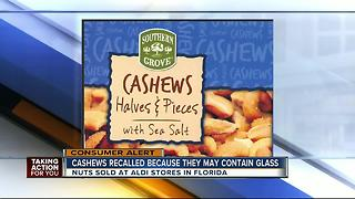 Cashews sold at ALDI recalled due to glass - Video