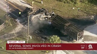 Fatal crash involving semi investigated in Okeechobee County
