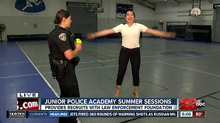 Physical training with Junior Police Academy