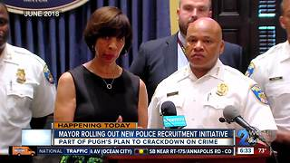 Mayor Pugh to announce new police officer recruitment initiative - Video