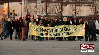 Sunday's MLK march and service - Video