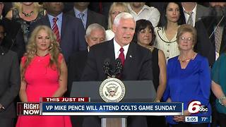 Vice President Mike Pence to attend Colts game in Indianapolis Sunday - Video