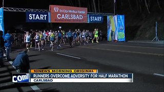 """Lucky 13"" runner overcomes lifetime of adversity to run in Carlsbad Marathon"