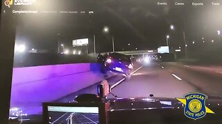 Check This Out: Dashcam footage shows man jump from moving car