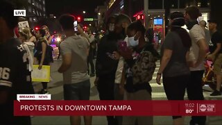 Protests continue in downtown Tampa, June 2