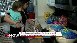 Tampa business owner preparing Thanksgiving dinner for less fortunate - Video