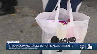 Thanksgiving baskets for single parents, BOND delivers food to 270 families