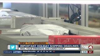 Meet your holiday shipping deadlines