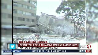 Mexico earthquake kills more than 200 people, topples buildings