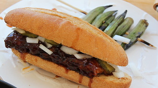 Homemade McRib Sandwich