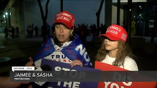 Trump supporters protest in Milwaukee