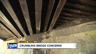 Old crumbling Amherst railroad bridges raise safety concerns among residents - Video