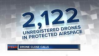 Dangerous drones invade protected airspace daily - Video