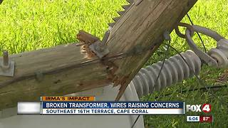 Broken transformer, wires raising concerns - Video