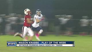 Friday Night Blitz Play of the Week: Seymour RB Mason Krabbe - Video