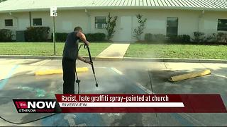 Riverview church vandalized with swastikas, racist graffiti - Video
