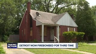 Detroit mom firebombed for the third time - Video