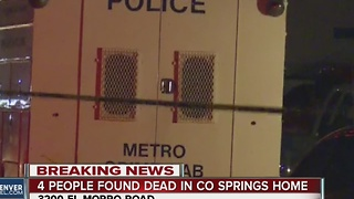 4 people found dead in Colorado Springs home - Video