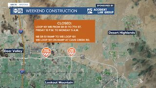 Weekend freeway construction projects in the Valley