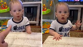 Teething toddler obsessed with chewing on table