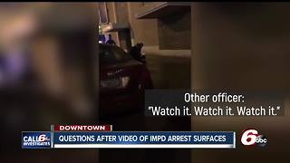 IMPD officer disciplined for threatening to 'f*** up' suspect during arrest - Video