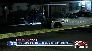 TPD search for suspects after man shot, killed - Video