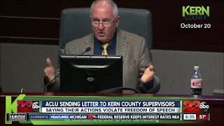ACLU sending letter to Kern County supervisors, says actions violate First Amendment