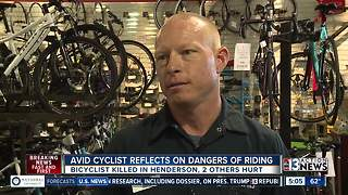 Avid cyclist reflects on dangers of riding - Video