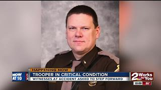 OHP asking for witnesses in car accident that injured a trooper - Video