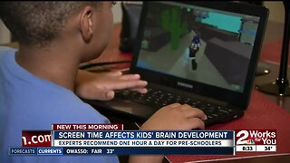 Screen time affects kids' brain development