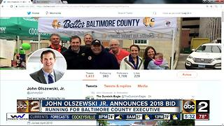 Democrat John Olszewski Jr. announce county executive campaign - Video