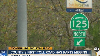 County's first toll road has parts missing - Video