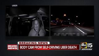 Tempe police have just released new body camera video of a deadly crash involving a self-driving Uber car - Video