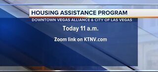 Housing assistance program Zoom call today