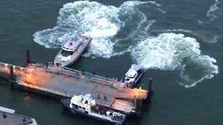 NYPD Rescue Man From Water Near East 34th Street Ferry Terminal - Video