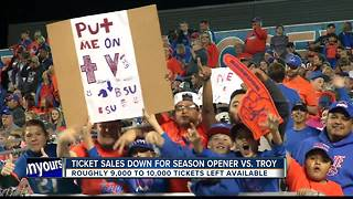 Ticket Sales are down for Home Opener vs. Troy - Video