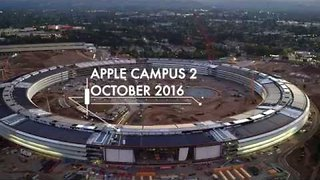 Drone Video Shows Apple Campus 2 Construction Near Completion - Video