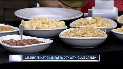 Create your own pasta bar at home to celebrate National Pasta Day