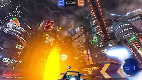 Awesome goal in last 10 sec(rocket league)