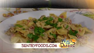 What's for Dinner? - Bow Ties with Sausage, Tomatoes and Cream - Video