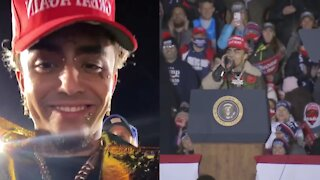 Rapper Lil Pump Speaks At Trump Rally