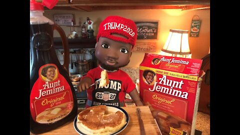 Terrance Williams CUTE DOLL and Aunt Jemima Pancakes