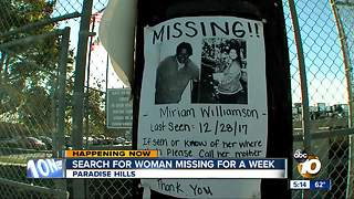 Search for woman missing for a week - Video