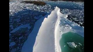 Drone Footage Captures Large Ice Berg Off Newfoundland Coast