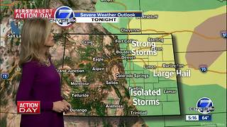 Severe storms tonight, then the heat returns - Video