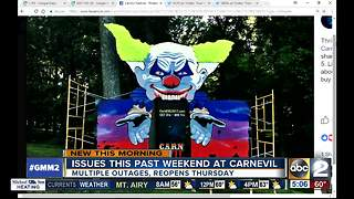 CarnEvil reopens Thursday after outages - Video