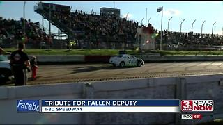 Tribute on race track for fallen deputy - Video